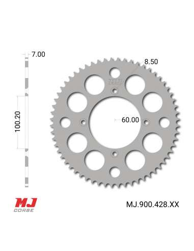MJ rear sprocket for Yamaha YZ 85