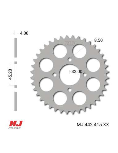 Rear sprocket for Rieju RS 1