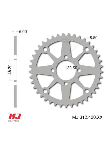 MJ rear sprocket for IMR Fuxion