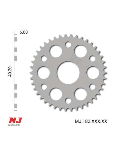 MJ rear sprocket for Ossa Trial