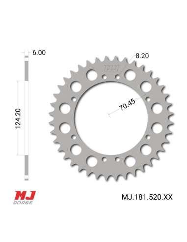 Corona MJ para Ossa 250 TE
