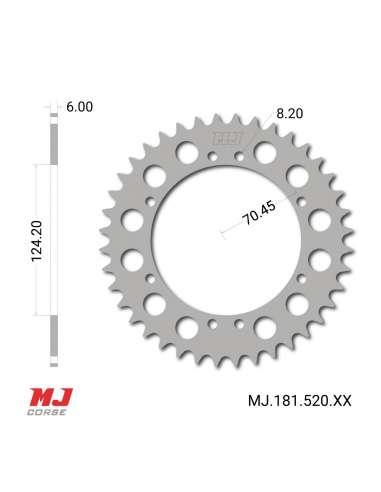 MJ rear sprocket for Ossa 250 Turismo