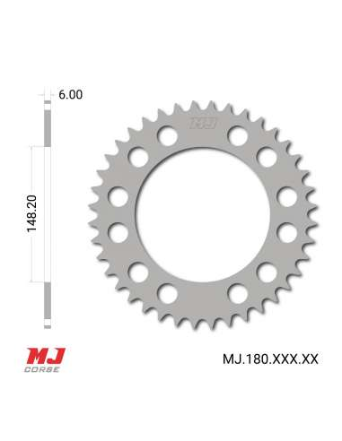 MJ rear sprocket for Ossa 125C