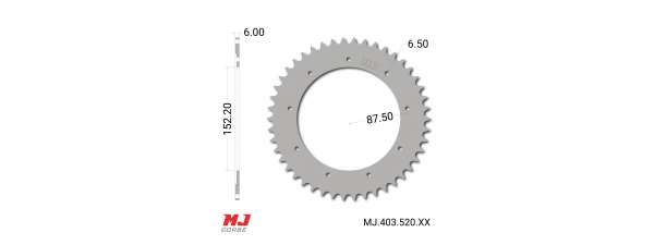 MJ rear sprocket for Bultaco Pursang MK10