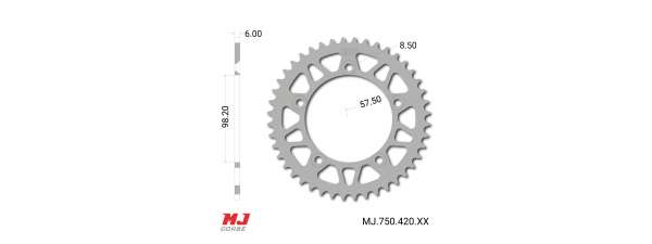 MJ rear sprocket for KTM 65 SX 1998-2019