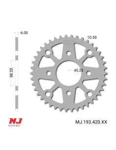 MJ rear sprocket for Hanway...