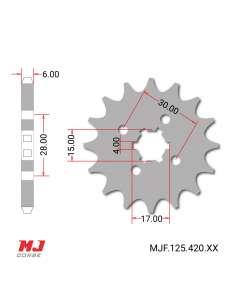 Piñón para Honda MBX 75