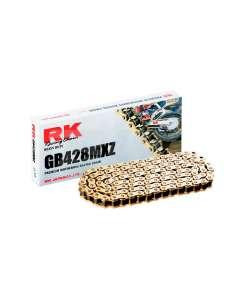 Cadena reforzada RK paso 428 136 eslabones color oro