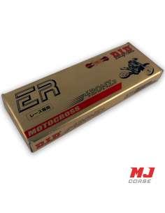 Cadena reforzada DID paso 420 136 eslabones en oro-negro