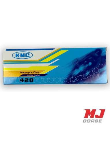 Cadena KMC 130 eslabones paso 428 en color negro foto 2