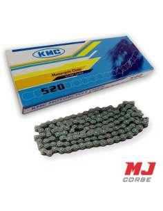Cadena KMC 118 eslabones paso 520 en color negro