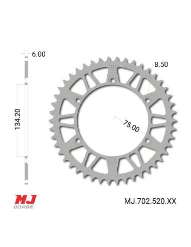 MJ rear sprocket for Suzuki RM 250 2004-2006